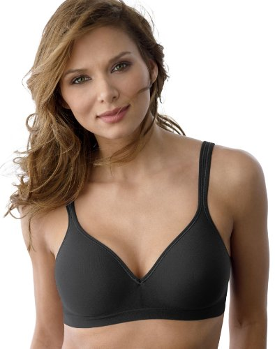 (Bali Women's Comfort Revolution Wireless Bra Black 34DD)