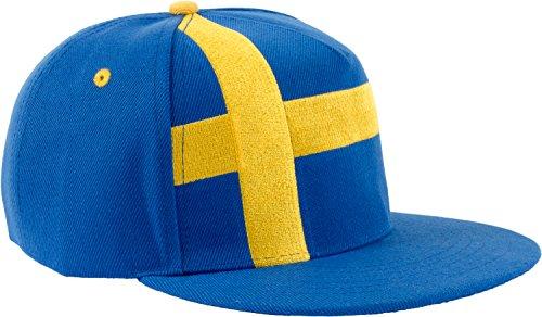 Epic Sweden Flag Snapback Hat | Swedish Tre Kroner Sverige Dalahast Baseball Cap