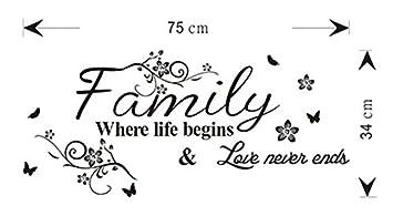 Family Spruch Wandsticker Zitat Wandtattoo Sprüche Familie