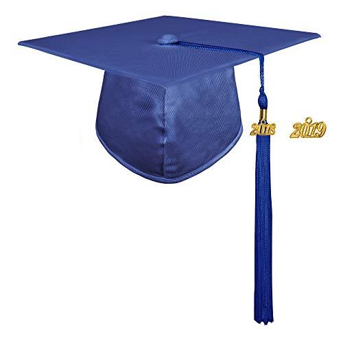 9bdb6c6734e GraduationMall Shiny Adult Graduation Cap with 2018 Tassel (2019 optional)  - Buy Online in Kuwait.
