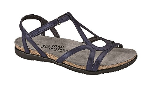Naot Mujeres Dorith Gladiator Sandal Polar Sea Leather