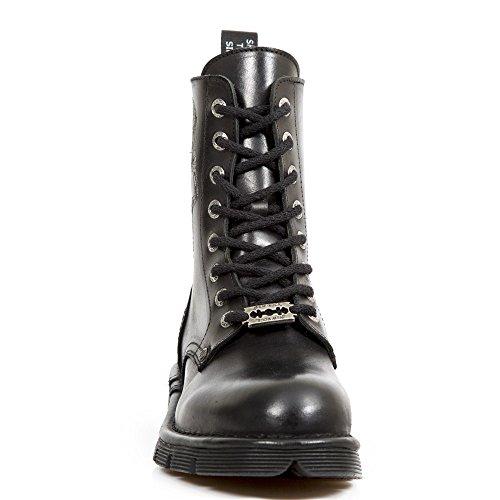 Schwarz Rock R5 Stiefel Unisex M MILI120 New Handmade pX4ygHddq