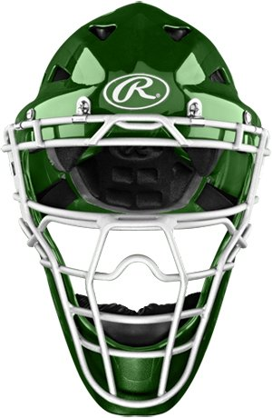 Rawlings HLCH1S Coolflo Catchers Helmet - Dark Green by Rawlings