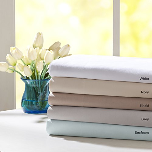 Madison Flat Sheet (Forever Percale 200 Thread Count Sheet Set, Queen)