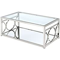HOMES: Inside + Out Iohomes Ortencia Chrome O-Ring Frame Coffee Table
