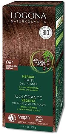 Logona Herbal Hair Dye Chocolate Brown Natural Vegan Plant Based 3.5 Ounce