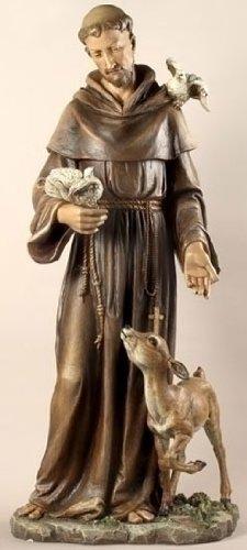 roman resin stone st francis religious garden statues ds 42164 - Resin Garden Statues