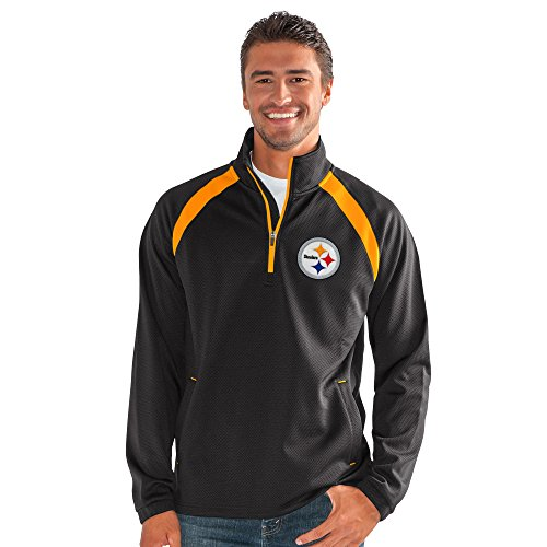 Pittsburgh Steelers Pullover - G-III Sports NFL Pittsburgh Steelers High Impact Half Zip Pullover, 6X, Black