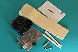 Pinewood Derby Car Kit Fast Speed Complete Ready to Assemble -Physics Lecture by Derby Dust from Derby Dust