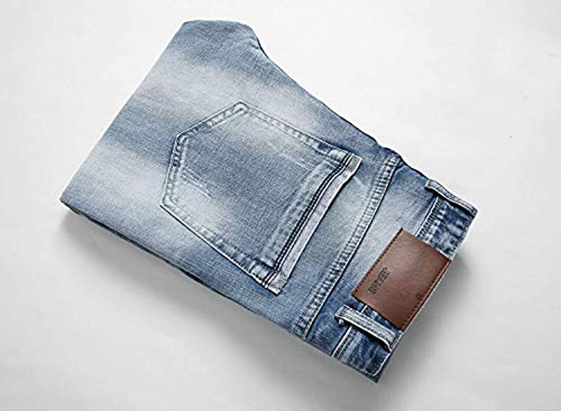 Męskie Skinny Stretch Skinny Gerade Jeans Jeans Wesentlich Mit Mittelbund Zipped Jeanshose Fashion Freizeit Vintage Denim Hosen: Odzież