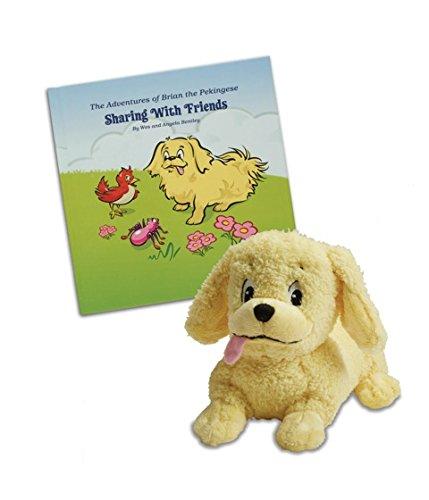 Brian the Pekingese Plush Toy & Children's Book Set