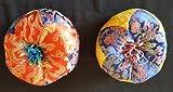 Handmade Nepalese Tibetan Bowl Cushioned Pillow - Medium