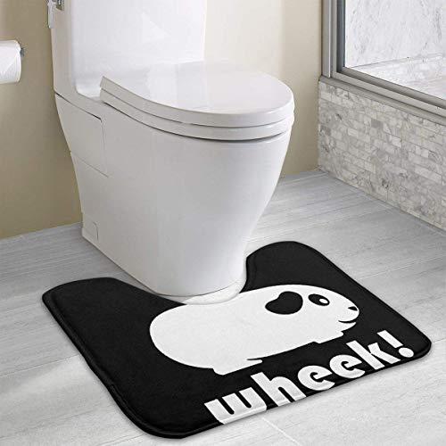 colory Simple Guinea Pig Wheek Toilet Carpet Anti-Slip Contour Bath Rug Carpet Mat for Toilet 19.2″x15.7″