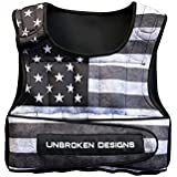 Unbroken Designs Unisex 20lbs Stars and Stripes Cropped Weight Vest-Adjustable Weight Jacket for Resistance Training, Neoprene Weight Vest, Boxing Training Fitness, Shapewear and Tummy Controller