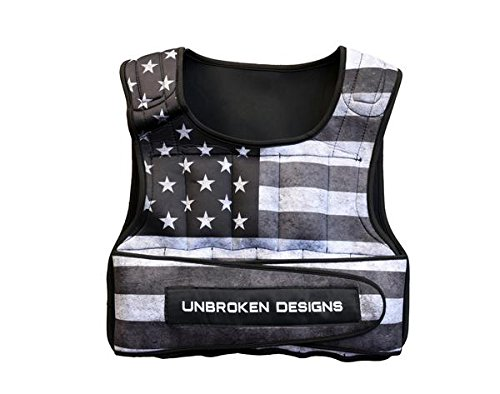 Unbroken Designs Stars And Stripes Cropped 20lb重量ベスト   B07C9GBJSM