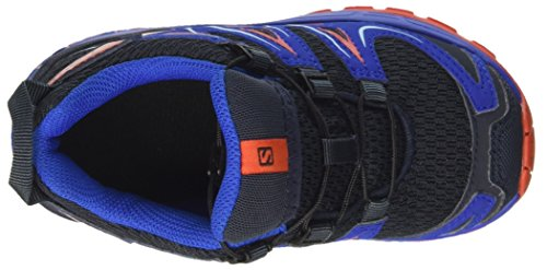 Salomon Unisex-Kinder XA Pro 3D J Outdoor-Multisport-Schuhe Blau (Deep Blue/blue Yonder/lava Orange)