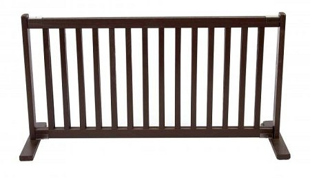 Domestic Pet Gates Large-Mahogany Free Standing Pet Gate Different