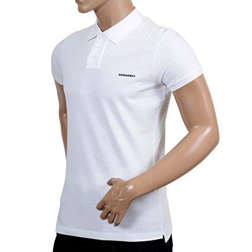 DSquared Herren Poloshirt weiß weiß