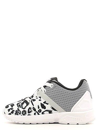 Adidas - Adidas Zx Flux Split El I Scarpe Sportive Bambina/o Bianche Tela S78807 Blanco