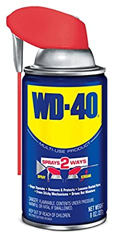 WD-40 Multi-Use Product - Multi-Purpose Lubricant with Smart Straw Spray. 8 oz. (1 Pack) - Wd Wood Finishes