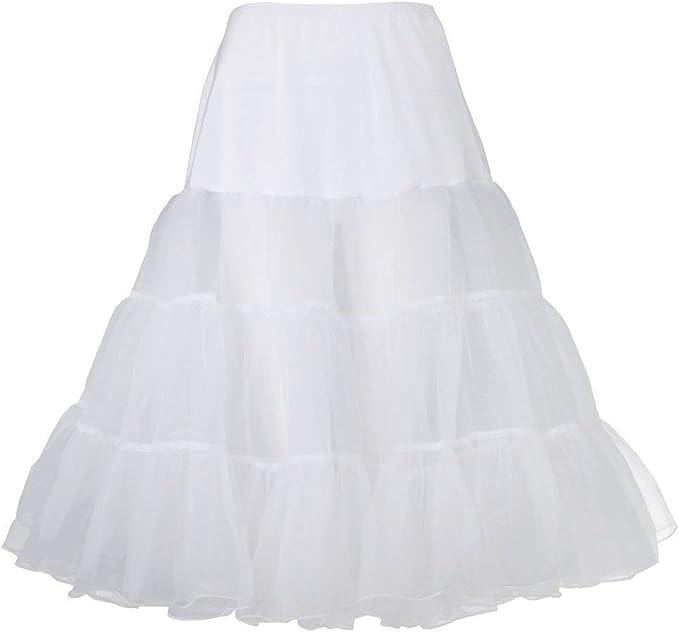 Falda Enagua 50S Vestido Enagua Tutu Esencial Vestido Sin Aro ...
