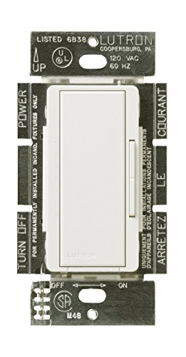 Lutron MALV-600-WH 600-Watt Maestro Magnetic Low-Voltage Single-Pole Dimmer, White ()