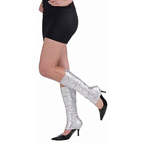 [Fancy Face Paint Color Halloween 80S Punk Rock Silver Scrunch Leg Warmers] (80s Rock Costumes)