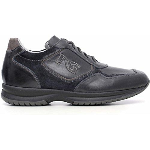 à lacets de Chaussures Giardini Musk Nero pour ville homme Blu 6wA7I1q