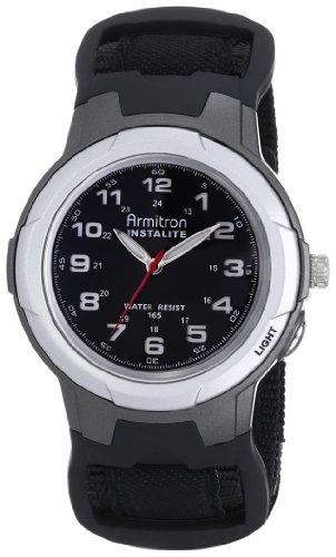 Armitron Sport Men's 204067 Easy to Read Black Nylon Strap Analog Watch