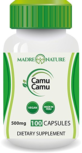 Organic Camu Camu Berry Supplement 500mg x 100 Vegan Capsules - Natural Vitamin C - Fresh Harvest from Peru (1-Pack)