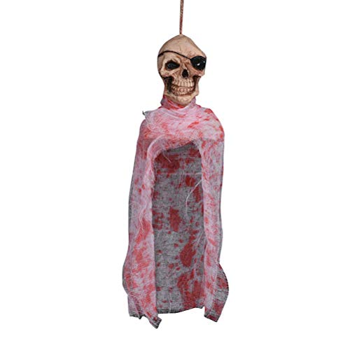 FENICAL Halloween Decoration Hanging Ghost Horror Ornament Pendant for Patio Lawn Garden Holiday Party]()