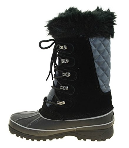 Khombu Womens Waterpoof Bottes Dhiver Nordic 2 Noir