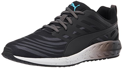 Puma MenS FlareGraphic Black, Asphalt, White and Atomic Blue Running Shoes - 7 UK/India (40.5 EU)