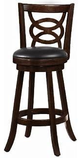 amazon com bar stools 29 swivel upholstered seat set of 2