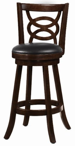 Cool Coaster Home Furnishings Set Of 2 29 H Bar Stools Black Padded Seat Cappuccino Finish Gamerscity Chair Design For Home Gamerscityorg