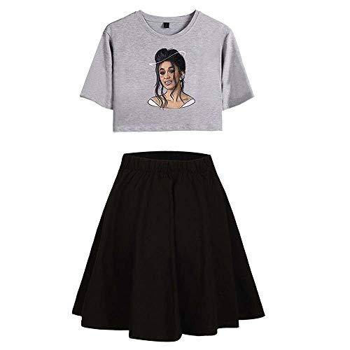 Keetall Cardi B and Leisure,Popular Sweet Skirt Suit B5 M