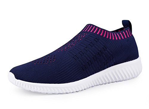 DMGYDAF Women's Lightweight Walking Athletic Shoes Breathable Mesh Sneakers Casual Running Shoes Darkblue