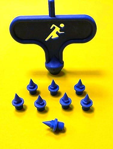 10pcs Kohlenstoffstahl Leichtathletik Pyramid Spikes Ersatz Mit Kunststoff Spike
