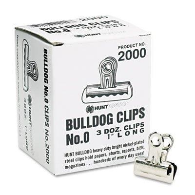 - Bulldog Clips, Steel, 5/16