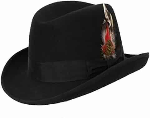cdf99b4e7c4aa4 Levine Hat 9th Street Charles Firm Felt Homburg Godfather Hat 100% Wool