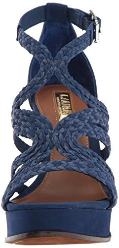 UK 6 Toe Ralph 0 US Größe Lauren Special Leather Lauren Aleena 8 by US Blau Damen Open Zw106q