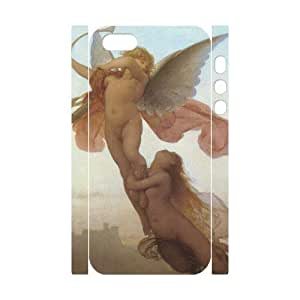 3D Bumper Plastic Customized Case Of Cupid Cherub for iPhone 5,5S