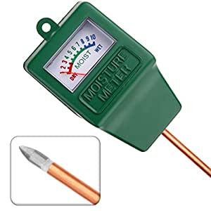 Jellas Moisture Meter / Soil Sensor Meter / Water Monitor / Plant Care Hygrometer for Indoor, Outdoor, Gardening, Farming Use.