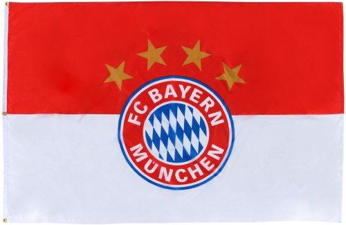 FC Bayern München Hissfahne Logo 180 x 120cm