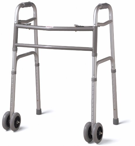MEDLINE MDS86410XWW Bariatric Folding Walker with 5