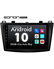 2020 Car Stereo, Eonon Android 10 Car Radio 9 Inch IPS HD Full Touchscreen Head Unit Fit Mazda 3 2010-2013,Built-in CarPlay and DSP Car GPS Navigation Radio, Support Android Auto/Backup Camera/OBDII-GA9463B