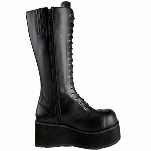 Leather Vegan 8 41 EU Demonia 502 TRASHVILLE Blk UK wqxztI7U