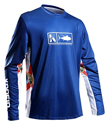 Performance Fishing Shirt Men's Vented Long Sleeve UPF 50 Sun Protection Quick Dry Cooling Side Vents Mesh Rash Guard Navy (Best Mens Cooling Shirt)