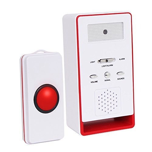 Call Button Wireless Caregiver Personal Pager Nurse Call Alert-Red ()