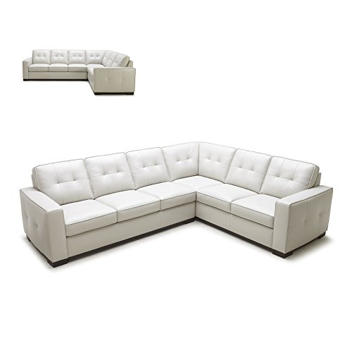 1591 Italian Leather Sectional Sofa with Right Chaise